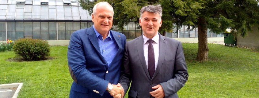 Župana Bojan Kontič in Janko Kos