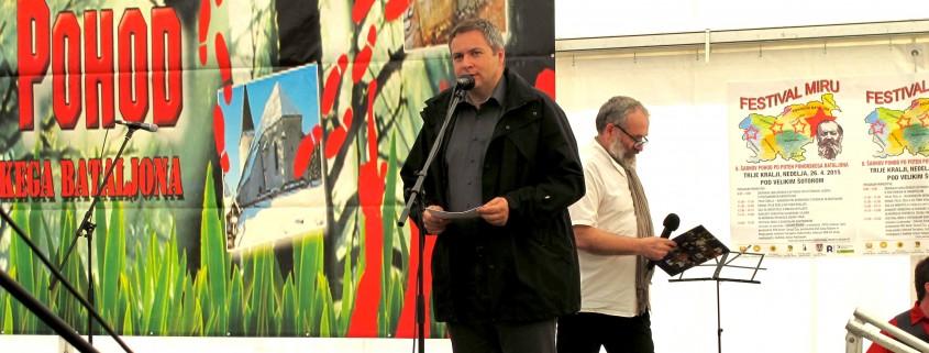 Slavnostni govornik Dejan Židan na Pohorju