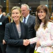 Katič in Mogherini na Svetu EU