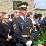 Kopač Mrak in slovenska delegacija v Mauthausnu