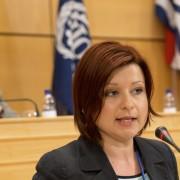 Martina Vik na zasedanju MOD v Ženevi