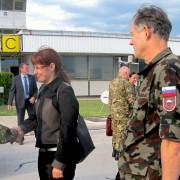 Obrambna ministrica na obisku pri SLO vojakih v BiH