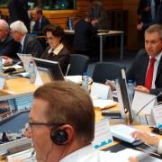 Židan in Strniša na zasedanju ministrov EU