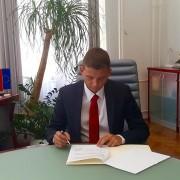 Dejan Levanič podpisal koalicijsko pogodbo SD za Ptuj
