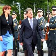 Obrambna ministrica Katič in minister Dusa
