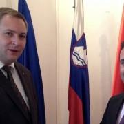 Predsednik SD Dejan Židan in predsednik SDSM Zoran Zaev