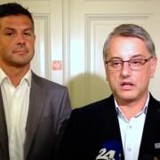 Poslanca SD Matjaž Nemec in Matjaž Han