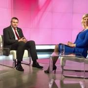 Dejan Židan in Katarina Golob na TV SLO 3