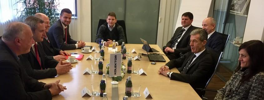 Predsednik SD z delegacijo v Kolektorju