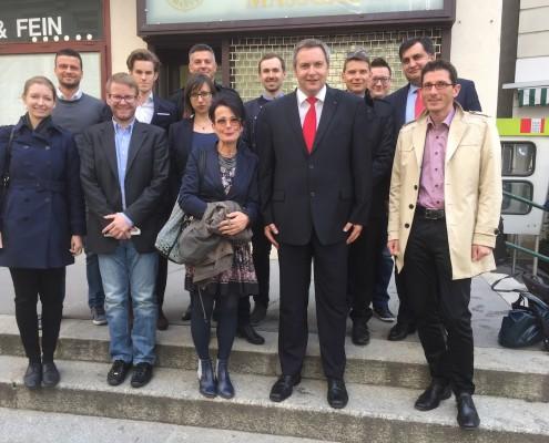 Delegacija SD z vodstvom Renner Inštituta