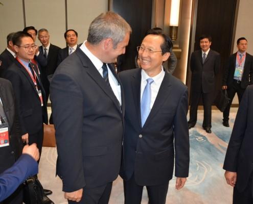 Minister Židan in kitajski kolega Changfu