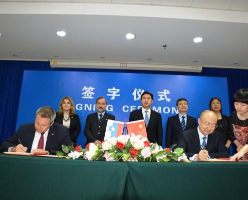 Židan in Shuping podpisala memorandume