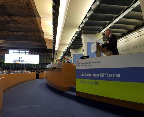 Židan na zasedanju FAO v Rimu 01