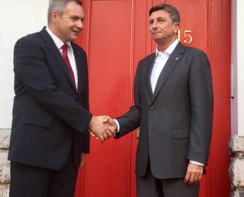 Dejan Židan in Borut Pahor na L15