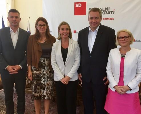 Delegacija SD z Mogherinijevo
