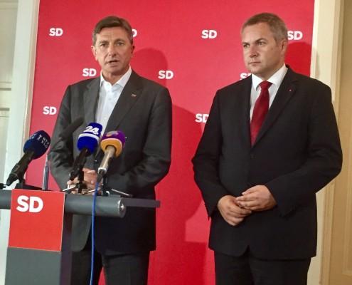 Pahor in Židan po seji Predsedstva SD