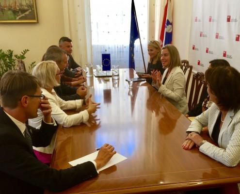 Srečanje SD z Mogherinijevo