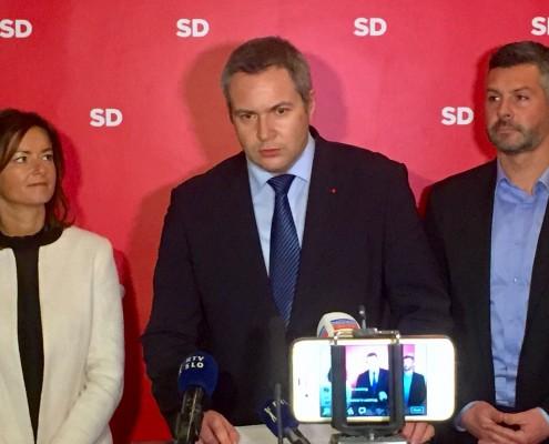 Predsednik SD in podpredsednika stranke