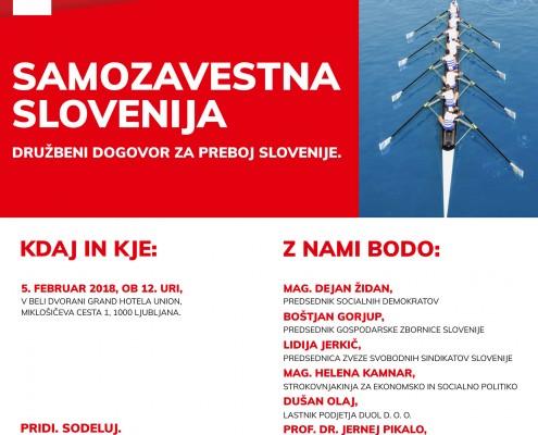Vabilo medijem - Posvet SD Samozavestna Slovenija - nov družebni dogovor 05-02-2018