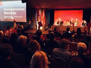 Glasovanje o volilnem programu na programski konferenci SD