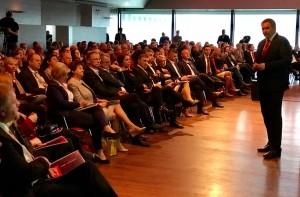 Židan med predstavitvijo volilnega programa