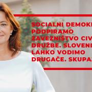 Socialni demokrati podpiramo zavezništvo civilne družbe