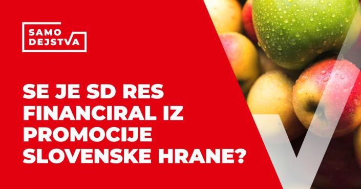 SamoDejstva: Se je SD res financiral iz promocije slovenske hrane?